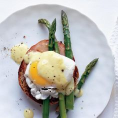 Eggs Benedict from Rachael Ray: We cut this buttery breakfast classic down to size.
