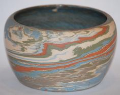 Ozark Pottery Mission Swirl Niloak Style Bowl By Charles Stehm from Just Art Pottery