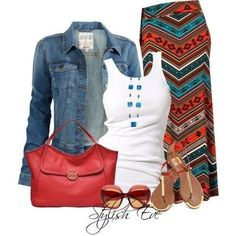Cute outfit ....wear with a pair of toms/bobs shoes instead of sandals for fall!