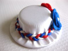 Red White and Blue Baby Hair Clips - Patriotic Mini Hat Hair Clips for Babies - Mini Top Hat Clips for Toddlers - 4th of July Hair Clips by GhinesCreations on Etsy