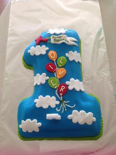 1st birthday number one cake for a boy