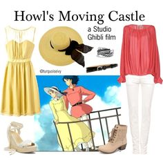 Howl's Moving Castle (Studio Ghibli) by turquoiseivy on Polyvore featuring mode, Tevolio, Pull&Bear, Victoria's Secret, Black Poppy, David Yurman, Brooks Brothers, women's clothing, women's fashion and women