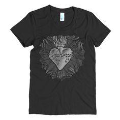 Sacred Heart Tshirt - Mexican Sacred Heart Tshirt - Unisex Printed T-shirt - Gray Tshirt - Cliche Zero K2uKGrI9ro