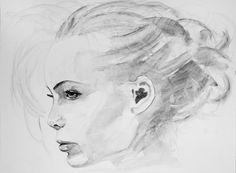 """Saatchi Online Artist Sonja De Graaf; Painting, """"Untitled (Girl)"""" #art"""