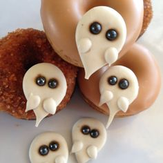 Vegan Spooktacular Ghosts Mini Cake Donuts Dairy by SweetSpotMinis Halloween Donuts, Mini Cakes, Ghosts, Dairy, Vegan, Cookies, Handmade Gifts, Desserts, Etsy