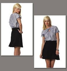 interesting skirt yoke vogue 1170 @pinqueen