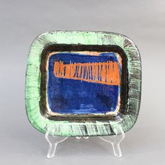 Ceramic Decorative Vide-Poche by Dominique Pouchain (circa Vide Poche, Animal Sculptures, French Artists, 1990s, Vintage Items, Modern Design, Pottery, Colours, Ceramics