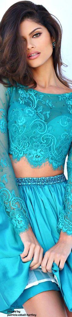 Turquoise   Aqua   fashion, outfit, modeling   Sherri Hill