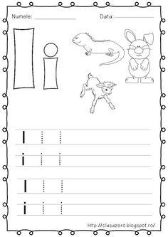 Clasa pregatitoare: Fisa de lucru pentru sunetul si litera I Math For Kids, Activities For Kids, Preschool Writing, Coloring Books, Homeschooling, Projects To Try, Teaching, Abc Learning, Minnie Mouse