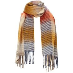 V By Very Multi Check Scarf (£16) ❤ liked on Polyvore featuring accessories, scarves, plaid shawl, checkered scarves, tartan scarves, tartan plaid scarves and tartan plaid shawl