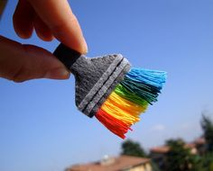 rainbow))) felt brooch - brush