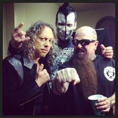 Kirk Hammet, Doyle Wolfgang von Frankestein and Kerry King Metallica, Gary Holt, Kerry King, Danzig, Thrash Metal, Metalhead, Misfits, Good Music, Heavy Metal