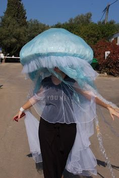 jellyfish costumes made these for our 4 kids used led. Black Bedroom Furniture Sets. Home Design Ideas