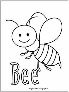 funny fly insects coloring pages - photo#16