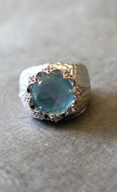 A little Moroccan flair makes this ring just the thing and it comes with a touch of sky blue too!