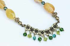 Beaded Necklace. Agate Gemstone.Crystal by JennyMoralesJewelry