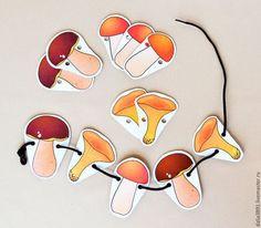 Ёжик и грибы, аппликация | Детский сад цвета