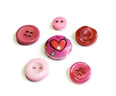 Hey, I found this really awesome Etsy listing at https://www.etsy.com/listing/169094336/pink-button-magnets-set-of-6-reworked