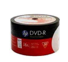 50 Hewlett Packard HP DVD-R 16x Silver Full Face Printable Disc