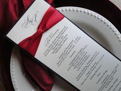 Wedding Programs -:- Ribbon Detail, Shimmer Cover -- Elegant, Classic, Contemporary -- Customize. $3.50, via Etsy.
