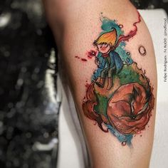 Little Prince tattoo by Felipe Rodrigues