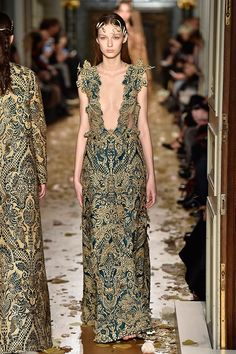 20 Of The Most Gorgeous Dresses From Couture Fashion Week #refinery29  http://www.refinery29.com/2016/01/102180/prettiest-dresses-paris-haute-couture-spring-2016-shows#slide-16  We're banking on this plunging jacquard gown to make its red carpet debut very soon. ...