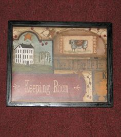Primitive Country The Keeping Room Lamb Wall decor 9 inches by 11 inches Primitive Wall Decor, Primitive Country, Keeping Room, Lamb, Mudroom, Ebay, House, Home Decor, Ideas