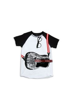 The Crew Neck Printed T in Acoustic (Little Boy) by Mini Shatsu from MFredric.com