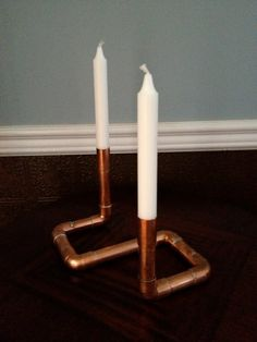 Industrial Design Candlestick Holder Unique by MacAndLexie on Etsy