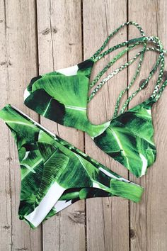 Stone Fox Swim Indie Top and Malibu Bottom Banana Leaf | Mango Molli Swimwear