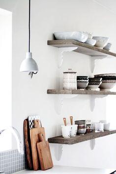 simple shelves in kitchen. @Miriam