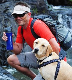 Dogs love Katadyn water filters too! | Katadyn filters are a must have for the hiker, camper, climber or outdoors enthusiast.