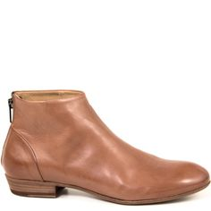 Pantanetti Tiramisu Tan  -- Minimalist ankle bootie - Made in Italy - Smooth Italian calfskin - Leather upper, lining footbed & sole - Leather sole with rubber protection - 3/4 inch heel - Rear zipper - Clean and sophisticated look - Women's European Whole and Half Sizes - Fits true to size