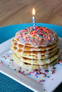 Breakfast Birthday Party - Cake Batter pancakes