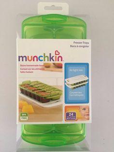 MUNCHKIN Baby-Food-Freezer-Trays Store homemade food BPA Free 24 1oz portions. #Munchkin