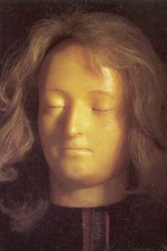 Death Mask of Marie Antoinette -- Mme. Tusssad herself obtained the masks of the Queen and King after the executions.