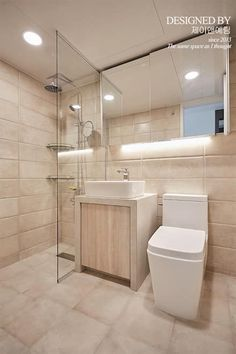 bathroom: 제이앤예림design의 화장실 Bathroom Interior Design, Interior Decorating, Contemporary Bathrooms, Beautiful Bathrooms, Small Apartments, Home Deco, Master Bathroom, House Design, Bath Room