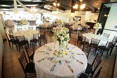 Gorgeous centerpieces dress up Casa Bonita tonight #wedding