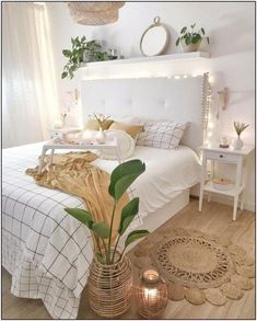 Room Ideas Bedroom, Small Room Bedroom, Home Decor Bedroom, Bedroom Inspo, Diy Bedroom, Girl Bedroom Designs, Bedroom Inspiration, Ikea Boho Bedroom, Gray Room Decor