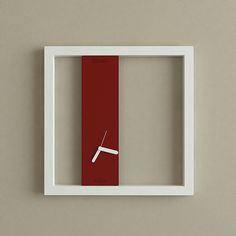 'time:left - marsala' clock designed by viad pasca