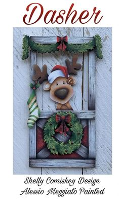 Rustic Christmas, Christmas Wreaths, Christmas Crafts, Christmas Decorations, Christmas Ornaments, Holiday Decor, Tole Painting, Painting On Wood, Christmas Gift Tags Printable