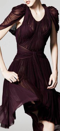 Plum Perfect Gathered + Draped Dress | Zac Posen Resort 2014