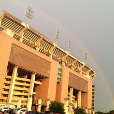 Victory at the end of the rainbow. #LSU