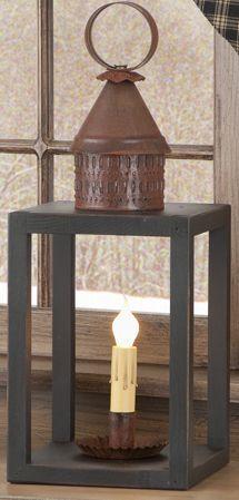 Canal Wood & Metal Lantern