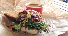 Lazy Day Meal Idea: Salad Bar Sandwich and Cup of Soup