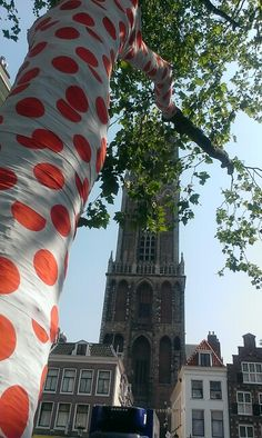 Dotted trees before Dome Utrecht - Tour 2015 Grand Depart