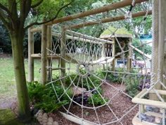 spider web climbing-frame Chelsea 2011 by ruth Outdoor Play Spaces, Kids Outdoor Play, Kids Play Area, Backyard For Kids, Backyard Playset, Backyard Playground, Playground Ideas, Children Playground, Natural Outdoor Playground
