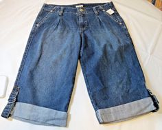 Cato Sportswear Denim Capri 14 womens ladies pants blue Jeans 9391 NWT #Cato #CaprisCropped
