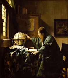 The Astronomer (De astronoom) 1668 Oil on canvas 50 x 45 cm. (19 5/8 x 17 3/4 in.) Musée du Louvre, Paris