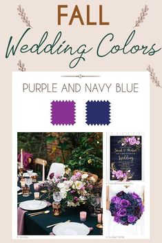 Steal These 24 Fall Wedding Colors Combo Ideas ❤ fall wedding colors palette purple and navy blue wedding plum Steal These 24 Fall Wedding Colors Combo Ideas Plum Wedding Colors, Purple Wedding, Our Wedding, Dream Wedding, Wedding Bride, Wedding Ideas, French Wedding, Wedding Inspiration, Wedding Dresses